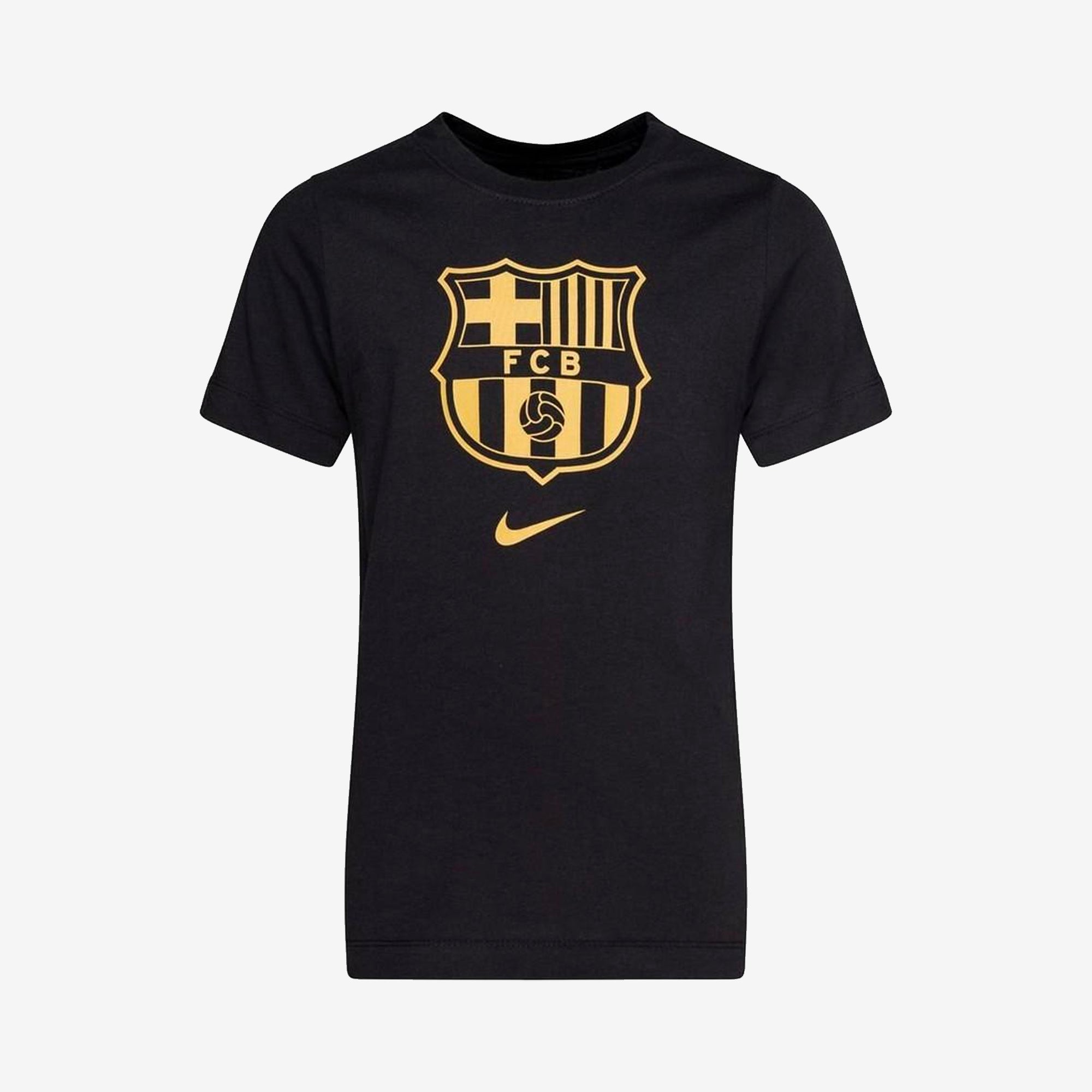 FC Barcelona 20/21 Crest Youth T-Shirt - Black