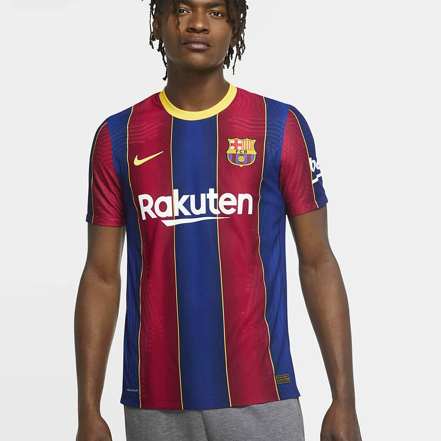 FC Barcelona Home Authentic VaporKnit Jersey Men's 2021