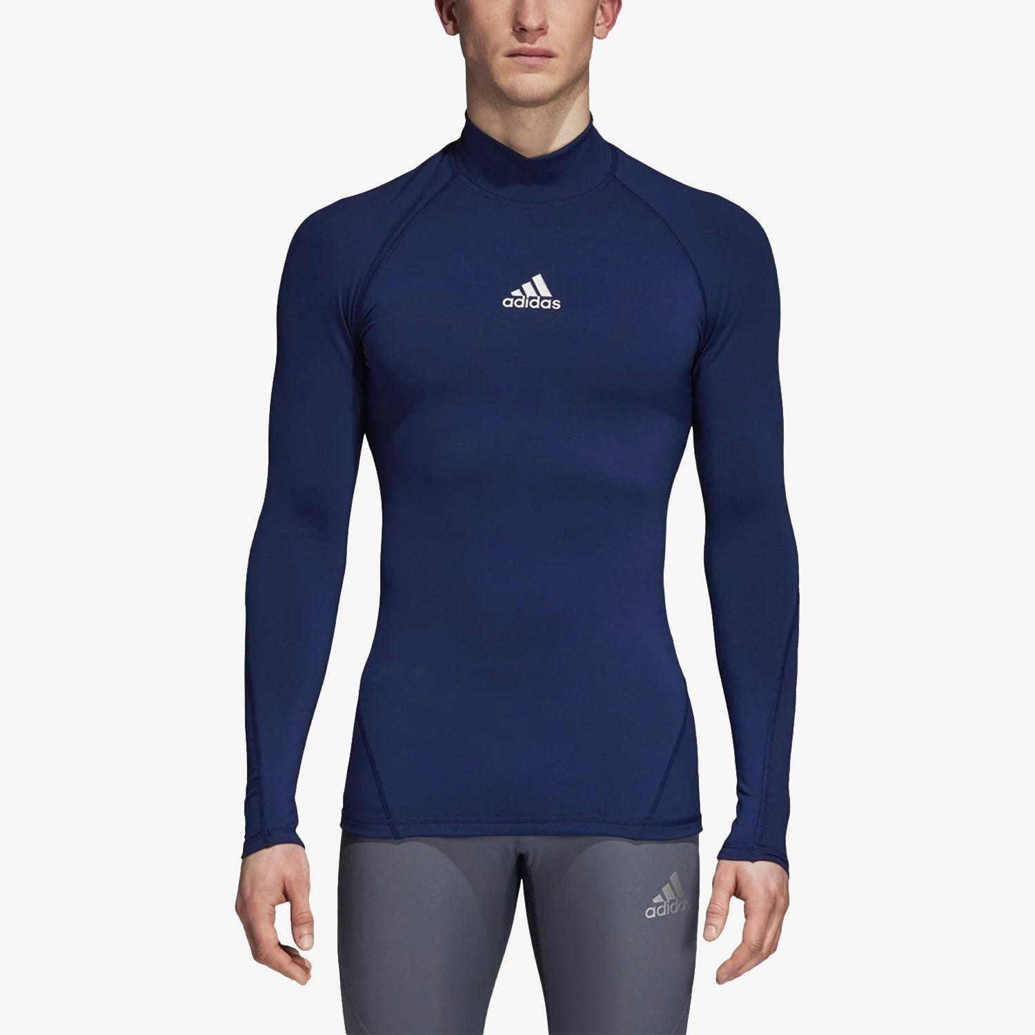 Alphaskin Long Sleeve Mock Compression Top Mens