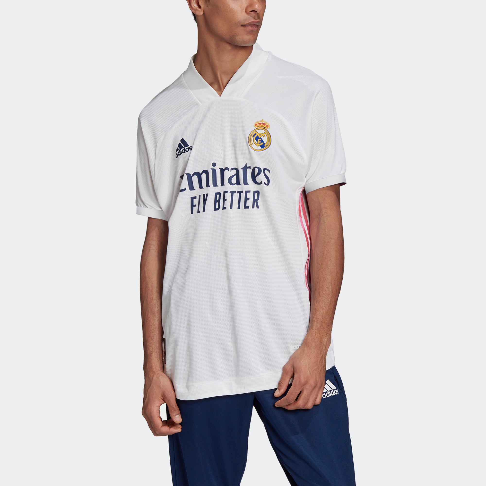 adidas Real Madrid Authentic Home Short Sleeve Jersey 20/21 Men's ...