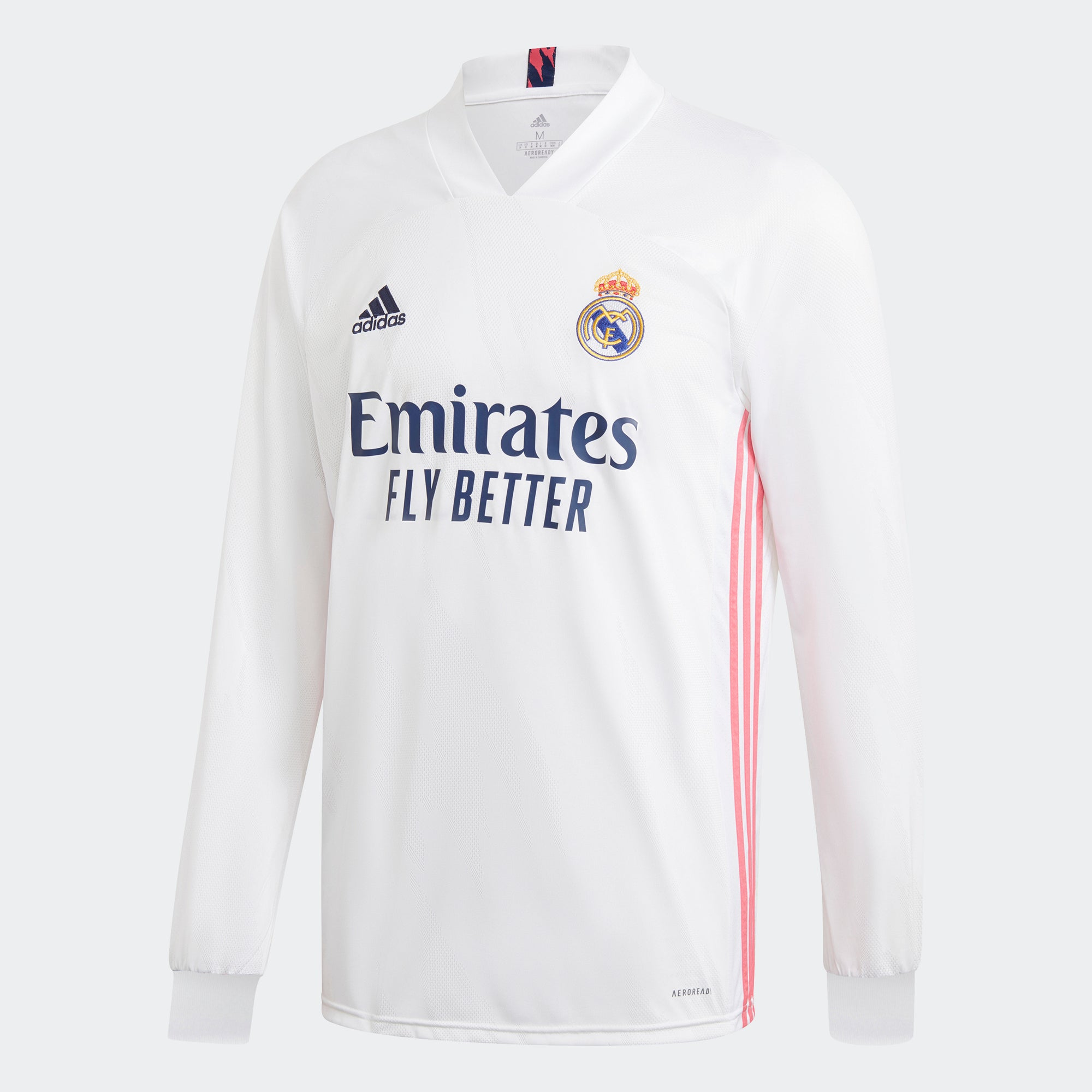Real Madrid Home Long Sleeve Stadium Jersey 20/21 Men's