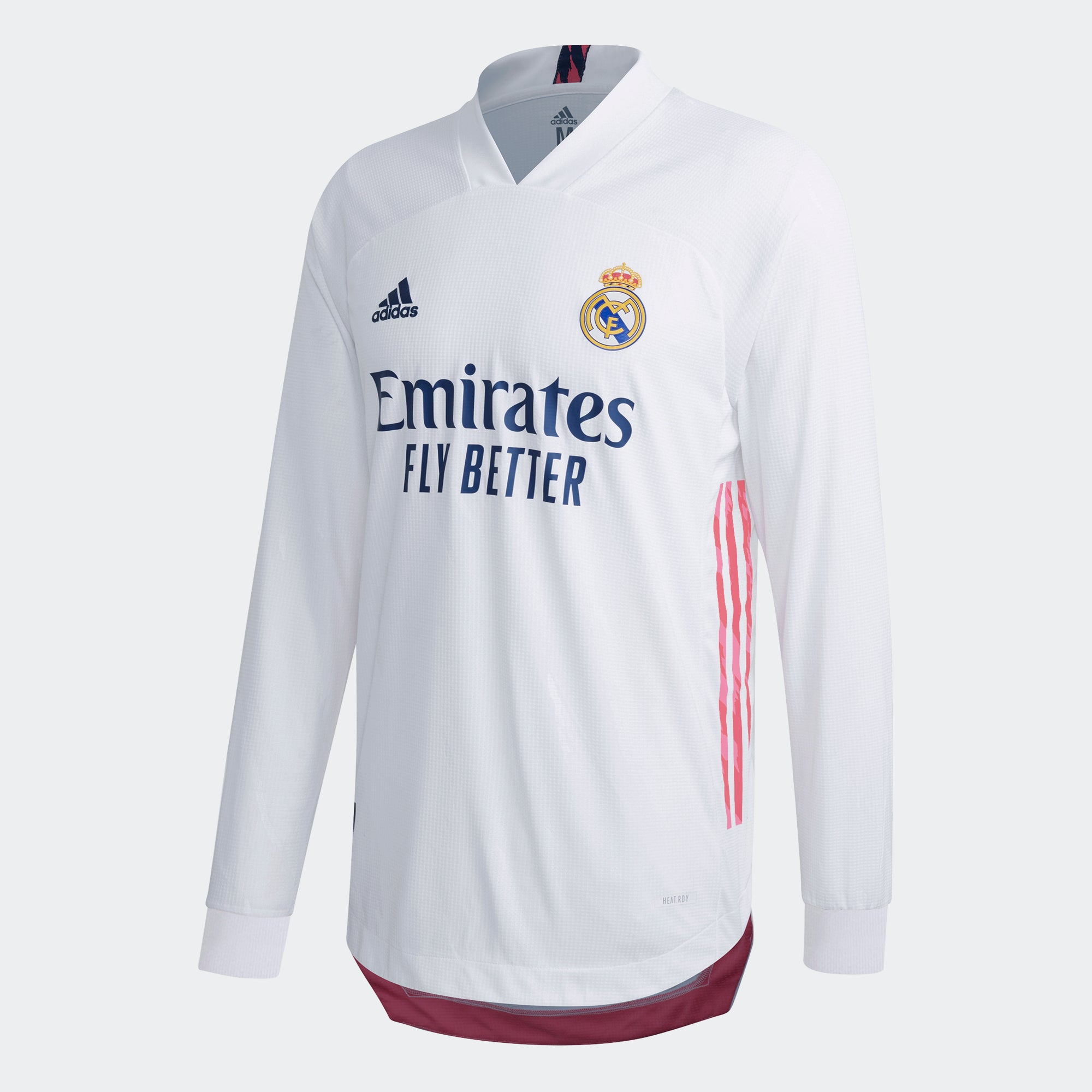 adidas Real Madrid Authentic Home Long Sleeve Jersey 20/21 Men's ...