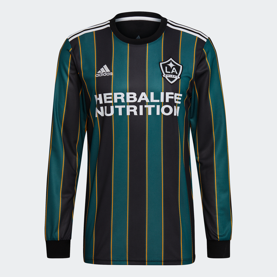 adidas LA Galaxy Away Jersey 2021 Stripes