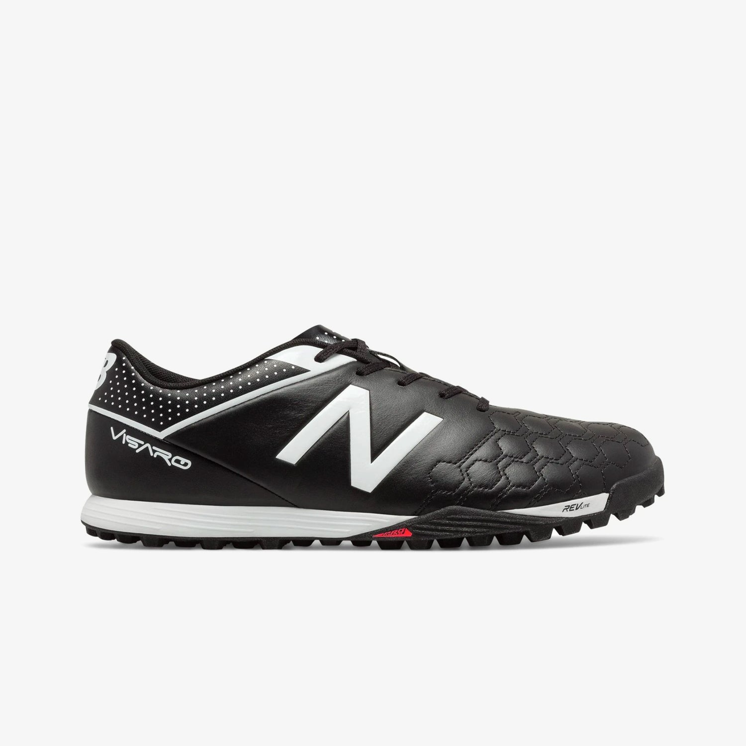Visaro Leather Turf Soccer Shoes - Black