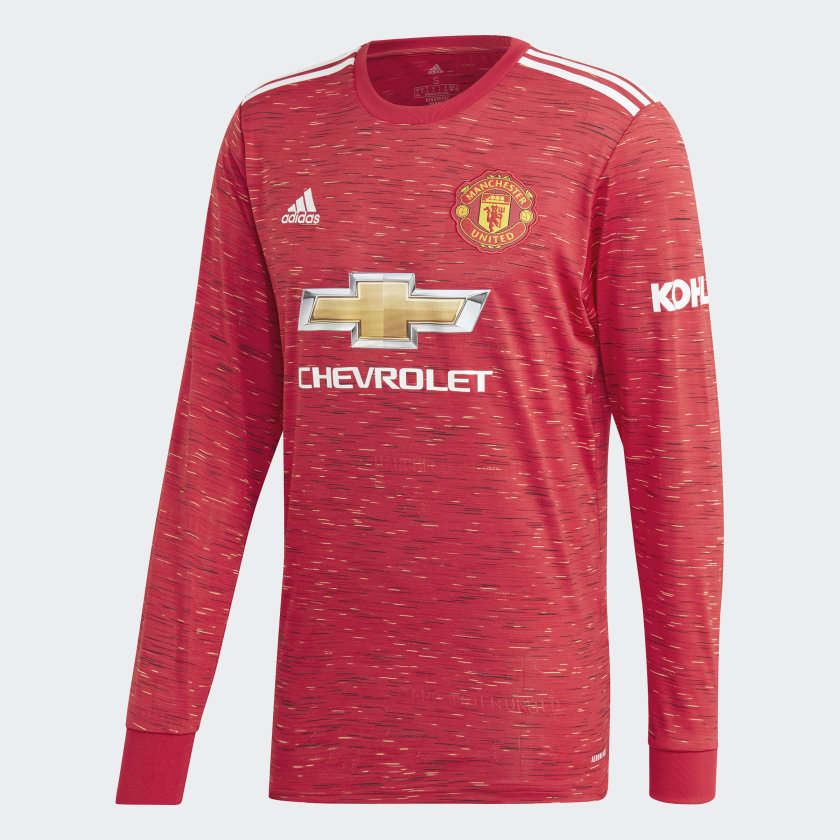 Manchester United Long Sleeve Stadium Jersey 20/21 Men's