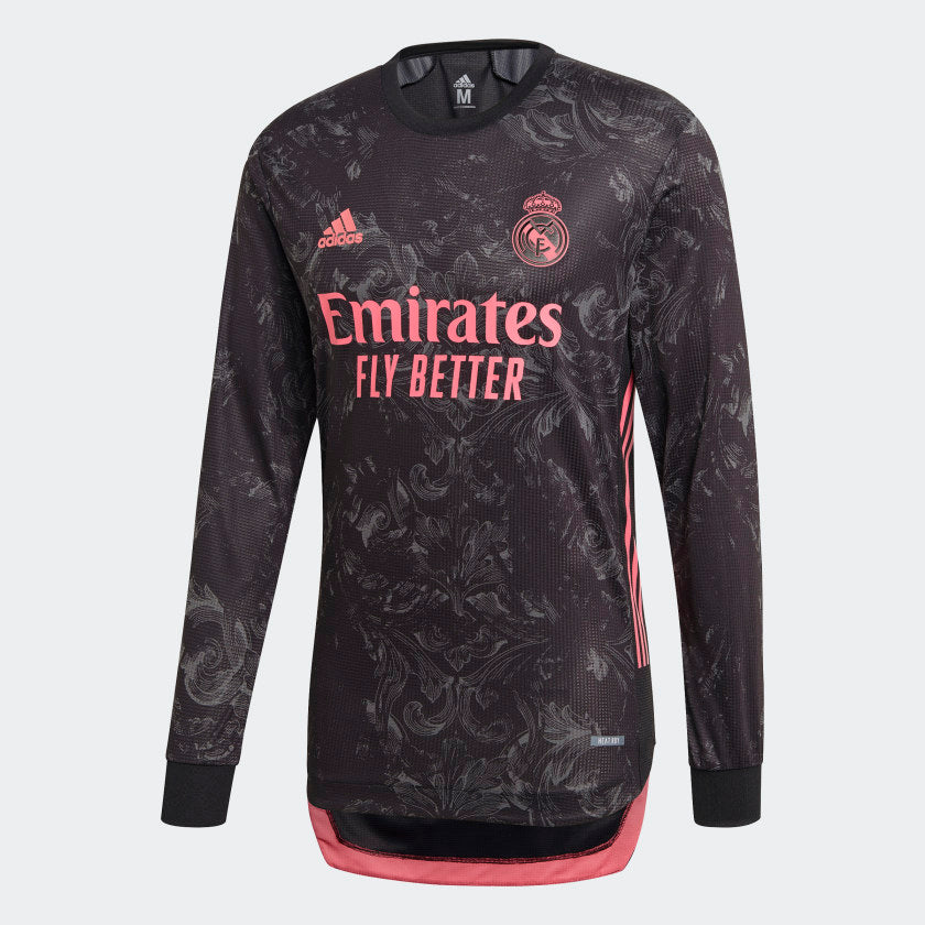 Real Madrid Authentic 3rd Long Sleeve Jersey 20/21 Men's
