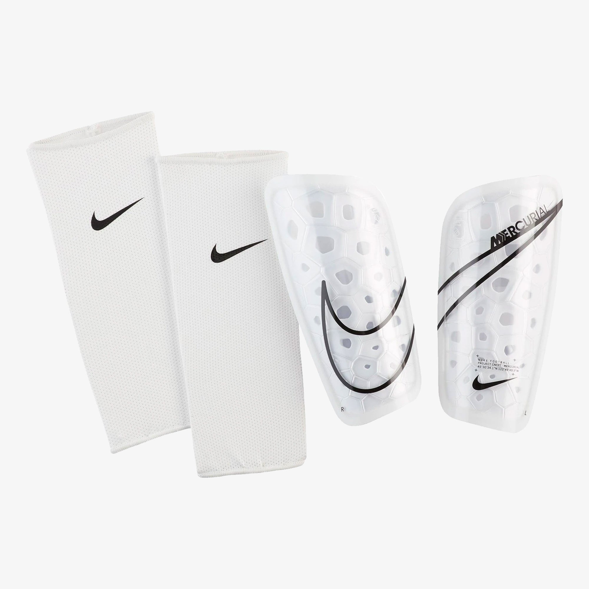 Mercurial Lite Football Shin Guards - White/Black