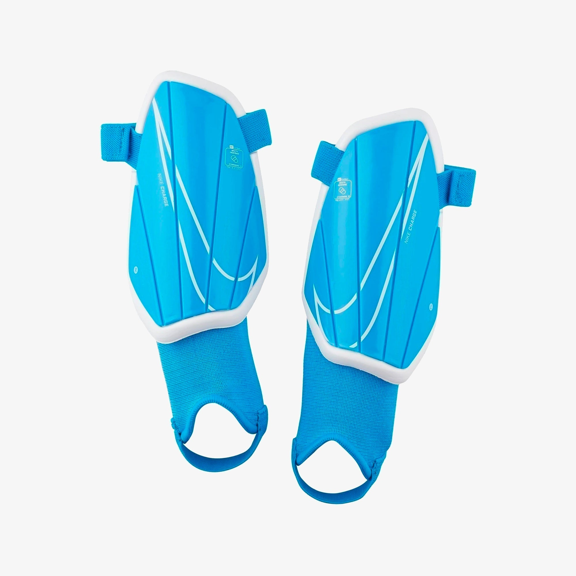 Kid's Charge Shield Shin Guards - Blue Hero/White