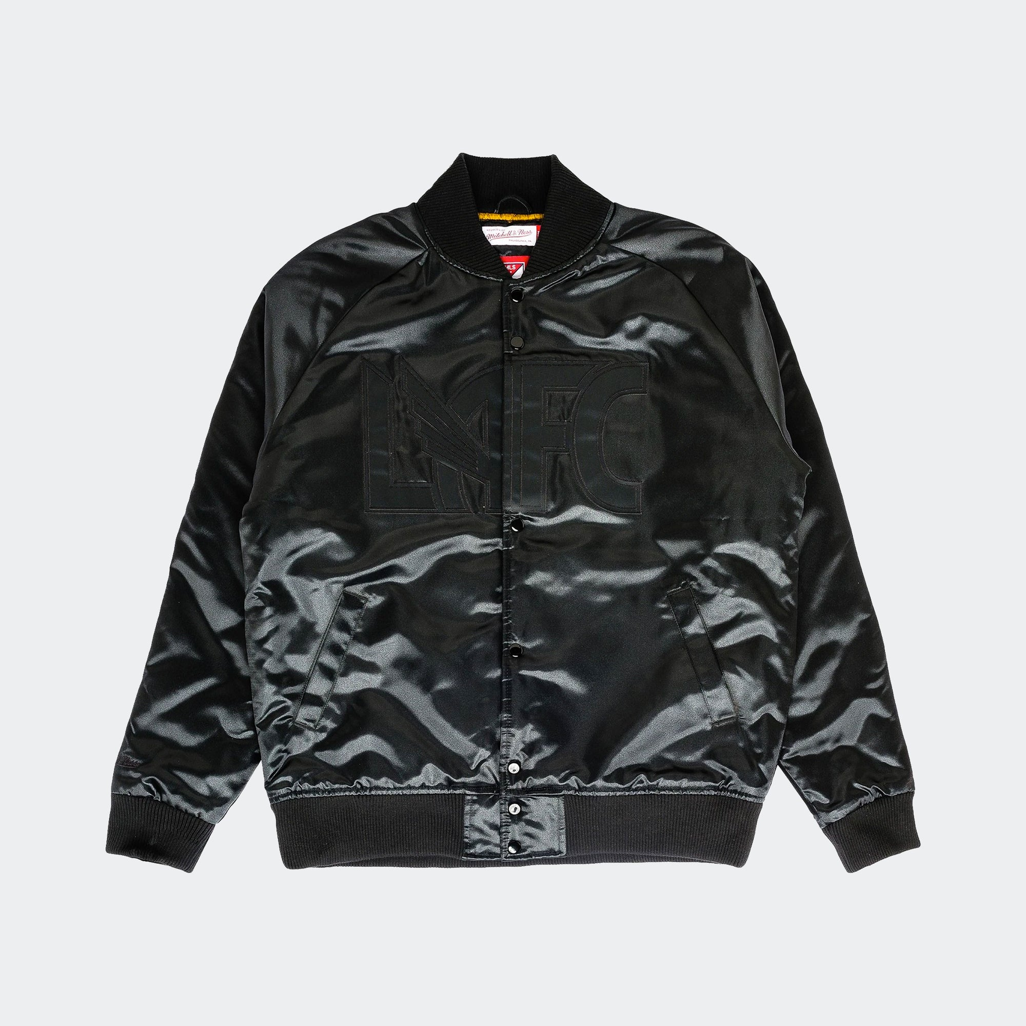 LAFC Midnight Satin Bomber Jacket Niky's Exclusive