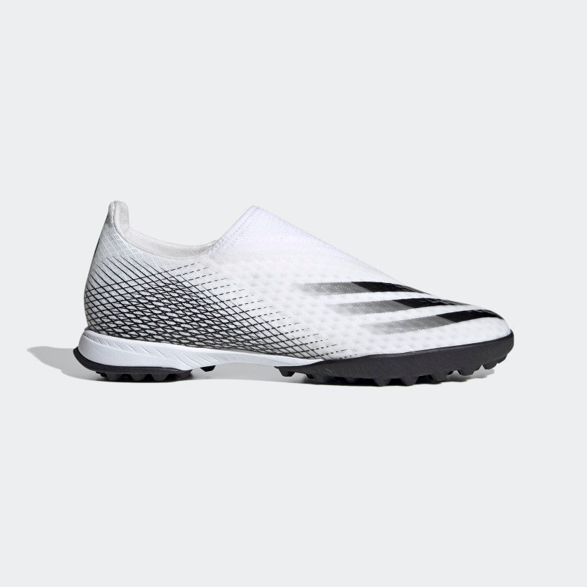 X Ghosted.3 Laceless Turf Soccer Shoes White Men's