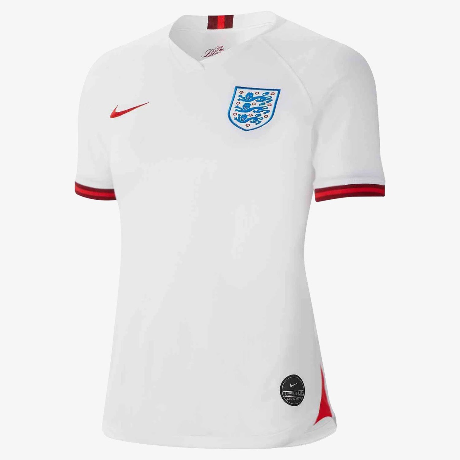 Women's England Stadium Home Jersey - White/Challenge Red