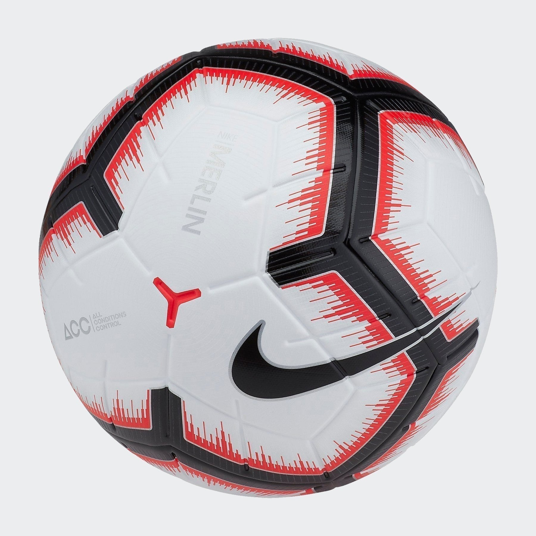Merlin Soccer Ball - White/Bright Crimson