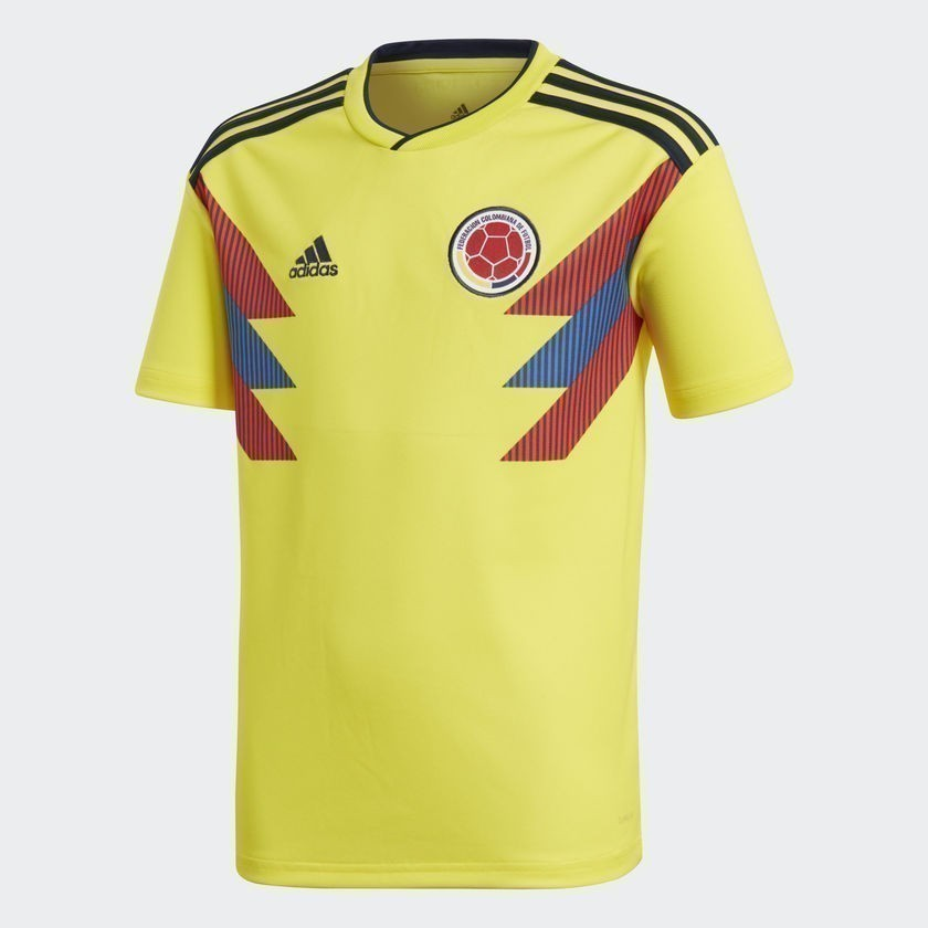 Youth Colombia Home Stadium Jersey World Cup 2018