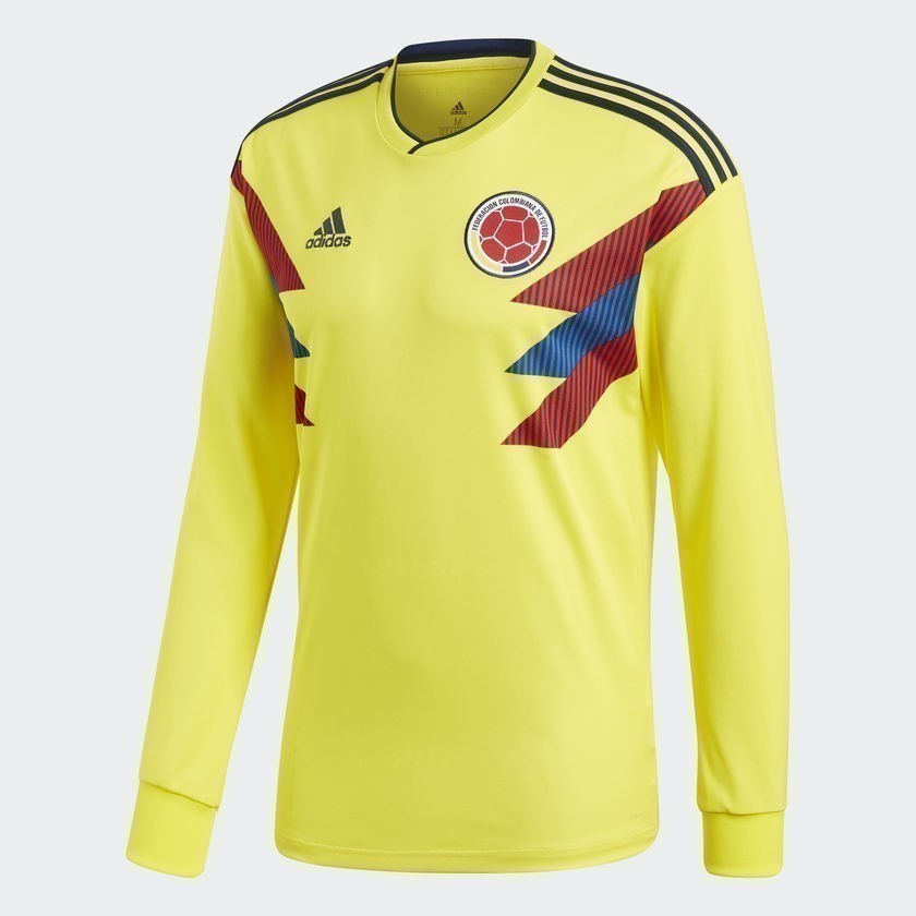 Men's Colombia Home Long Sleeve Jersey  World Cup 2018