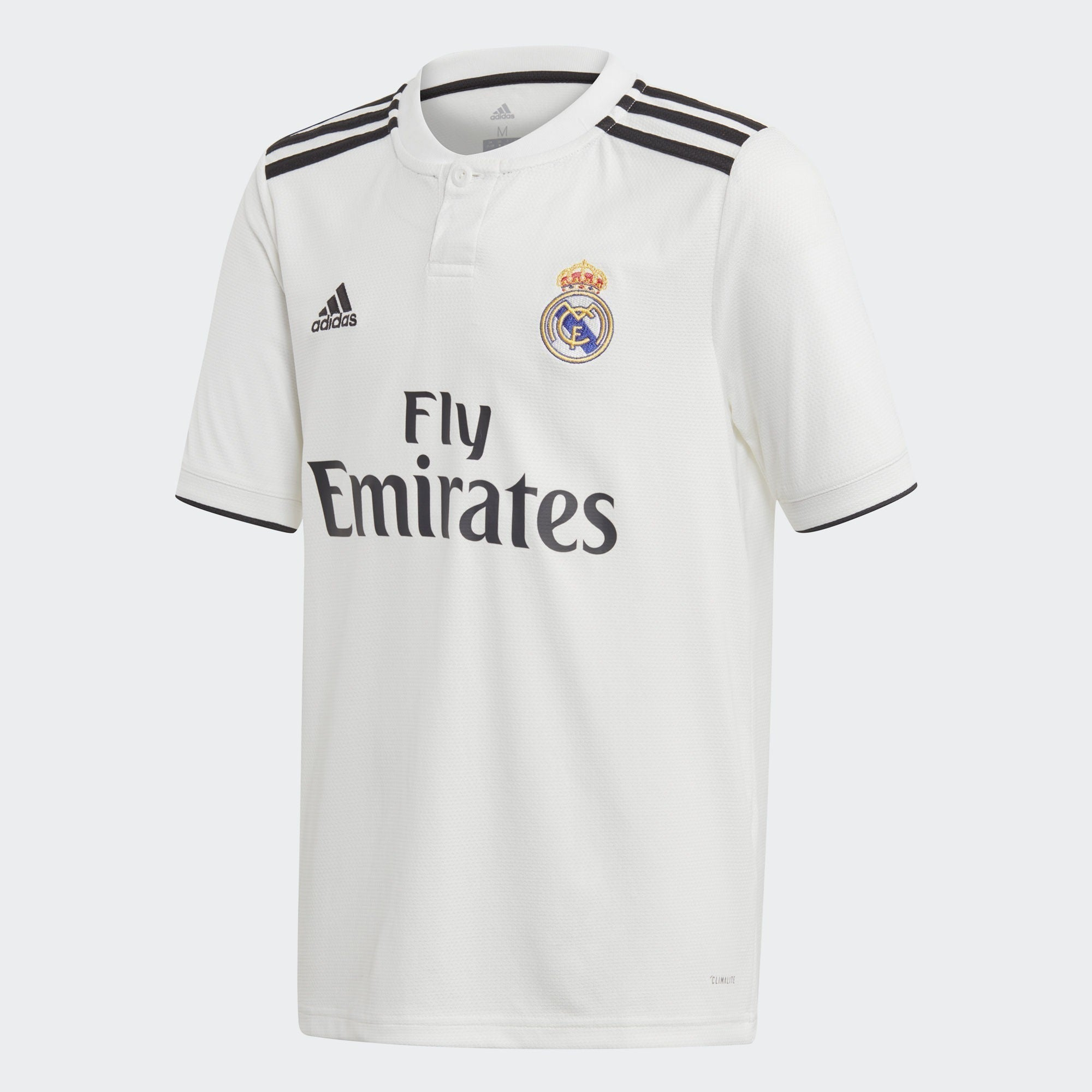 Kid's Real Madrid 18/19 Home Jersey - White/Black