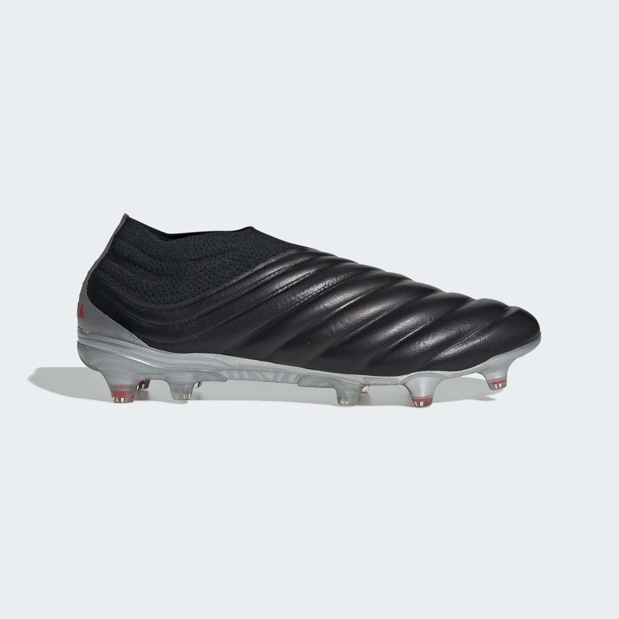 Men's Copa 19+ FG Cleats - Core Black/Hi-Res Red/Silver