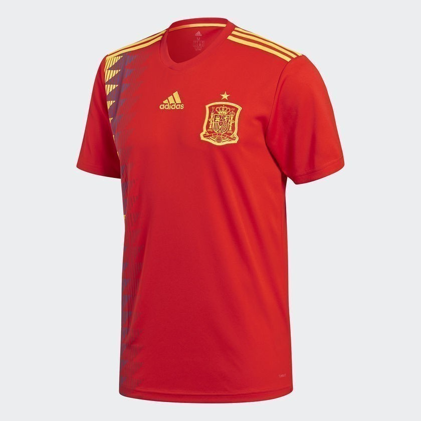 Men's Spain Home Jersey World Cup 2018