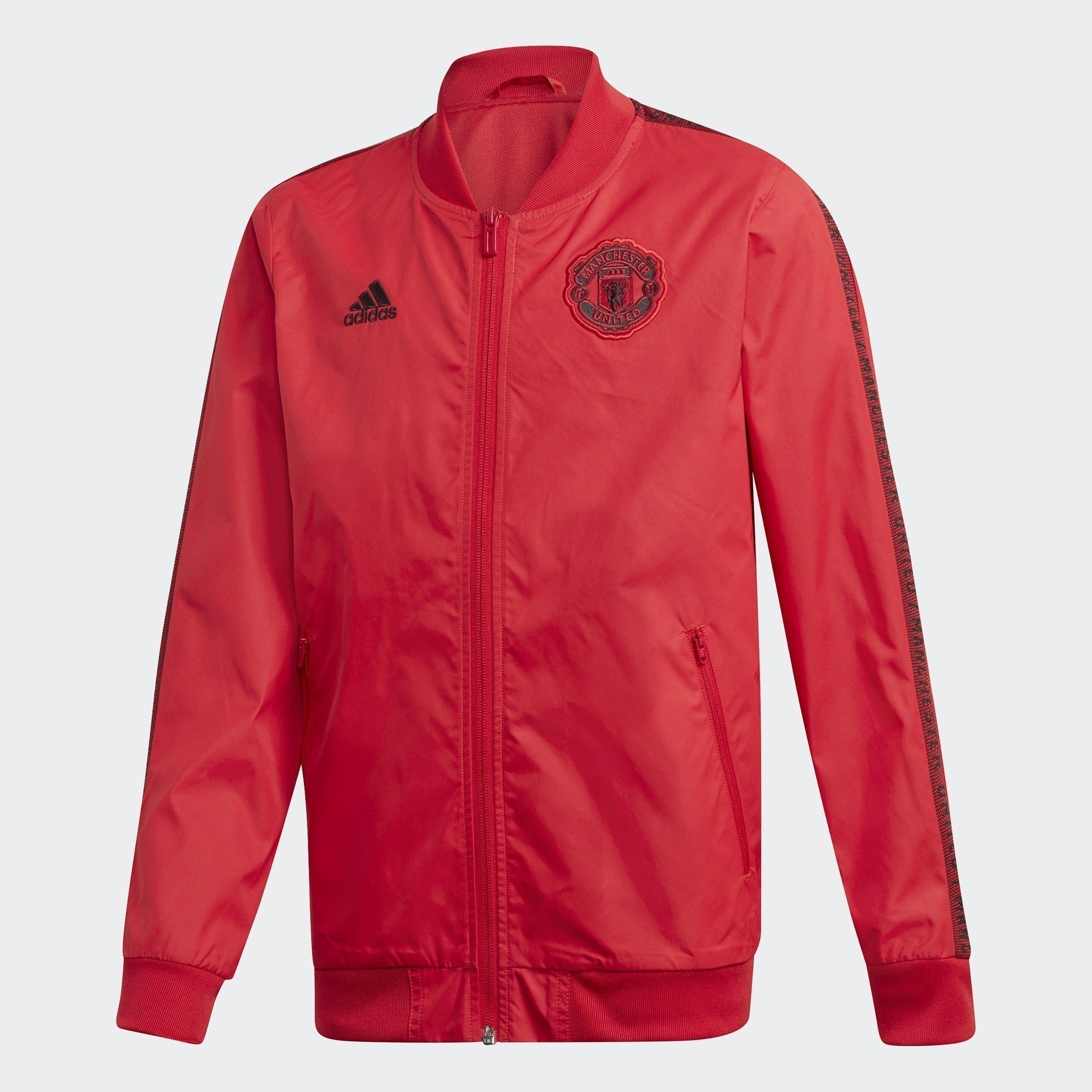 Kid's Manchester United Anthem Jacket - Real Red/Black