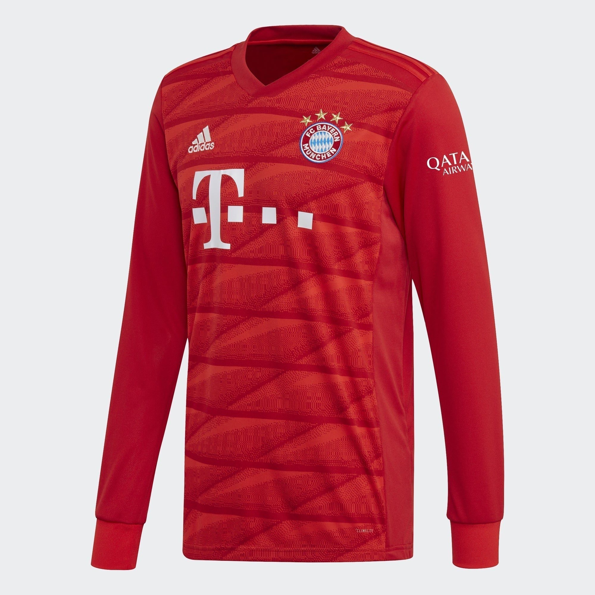 Men's FC Bayern 19/20 Home LS Jersey - True Red