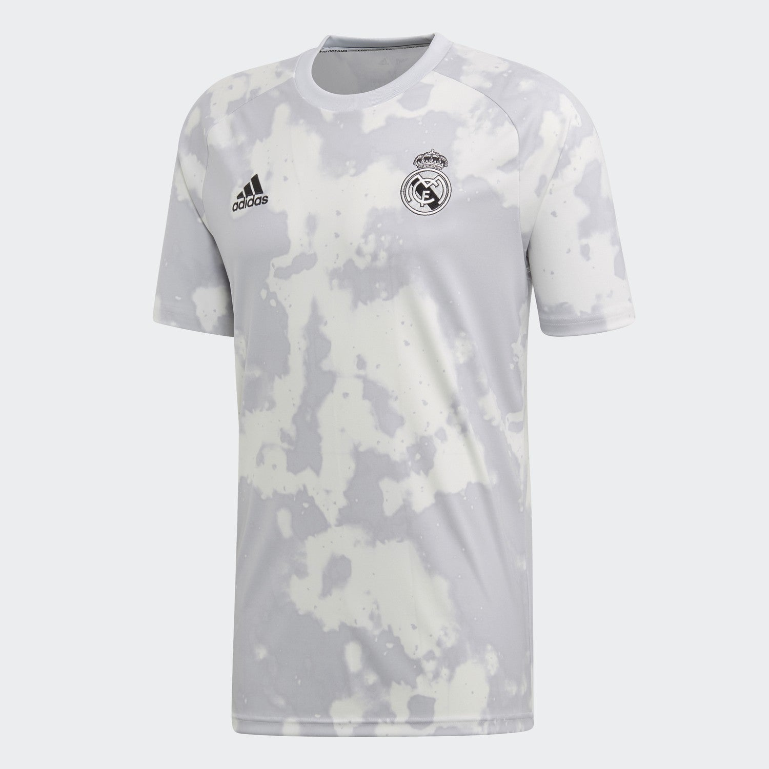 Men's Real Madrid Pre-Match Jersey - Grey/White