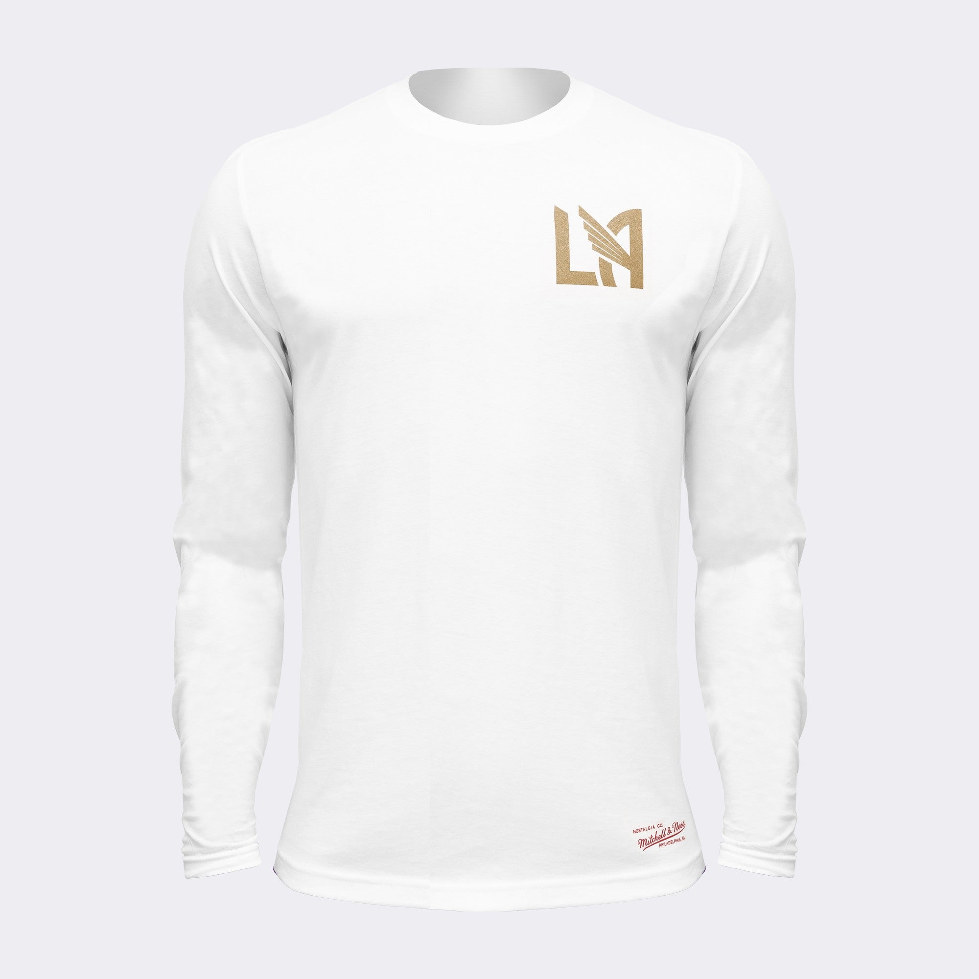 LAFC Heart of Los Angeles Long Sleeve Tee - White/Gray/Gold