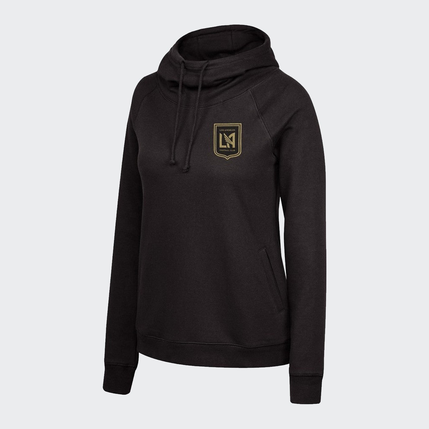 Women's LAFC Funnel Neck Pullover Hoodie - Black