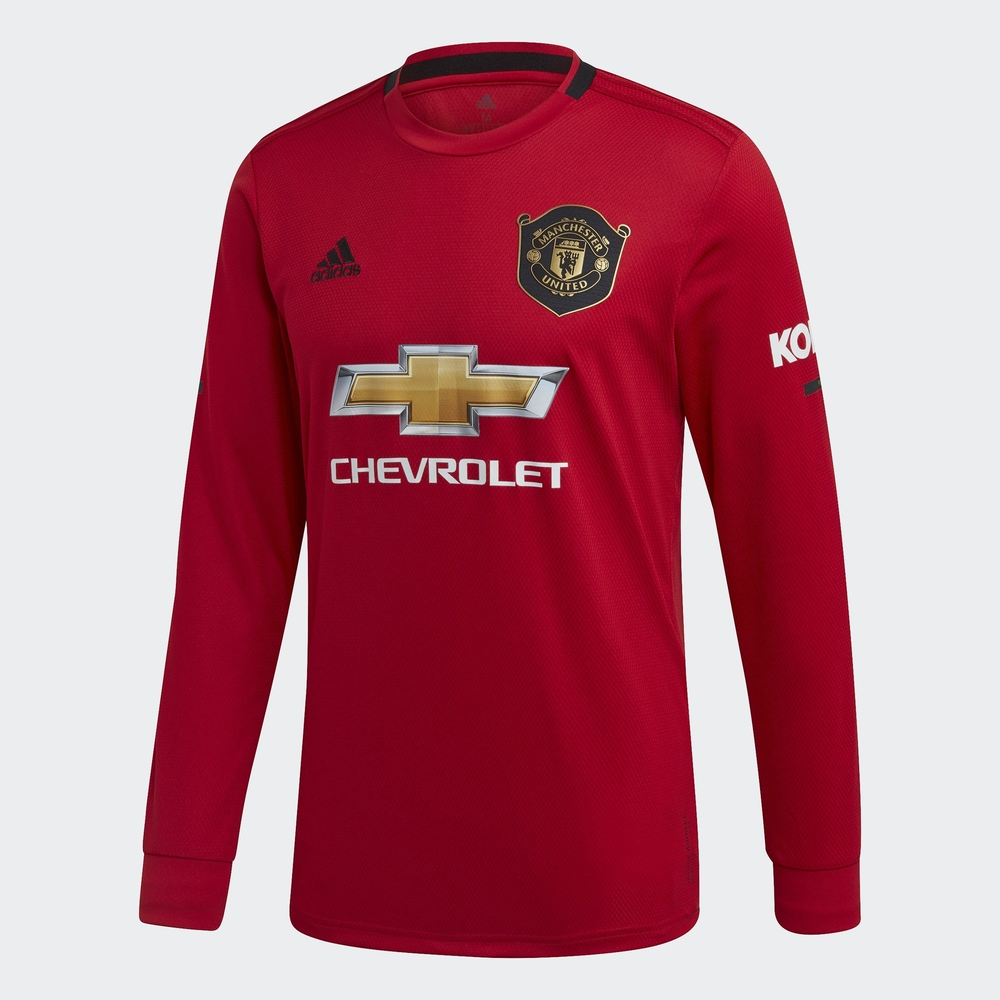 Men's Manchester United Home LS Jersey - Real Red