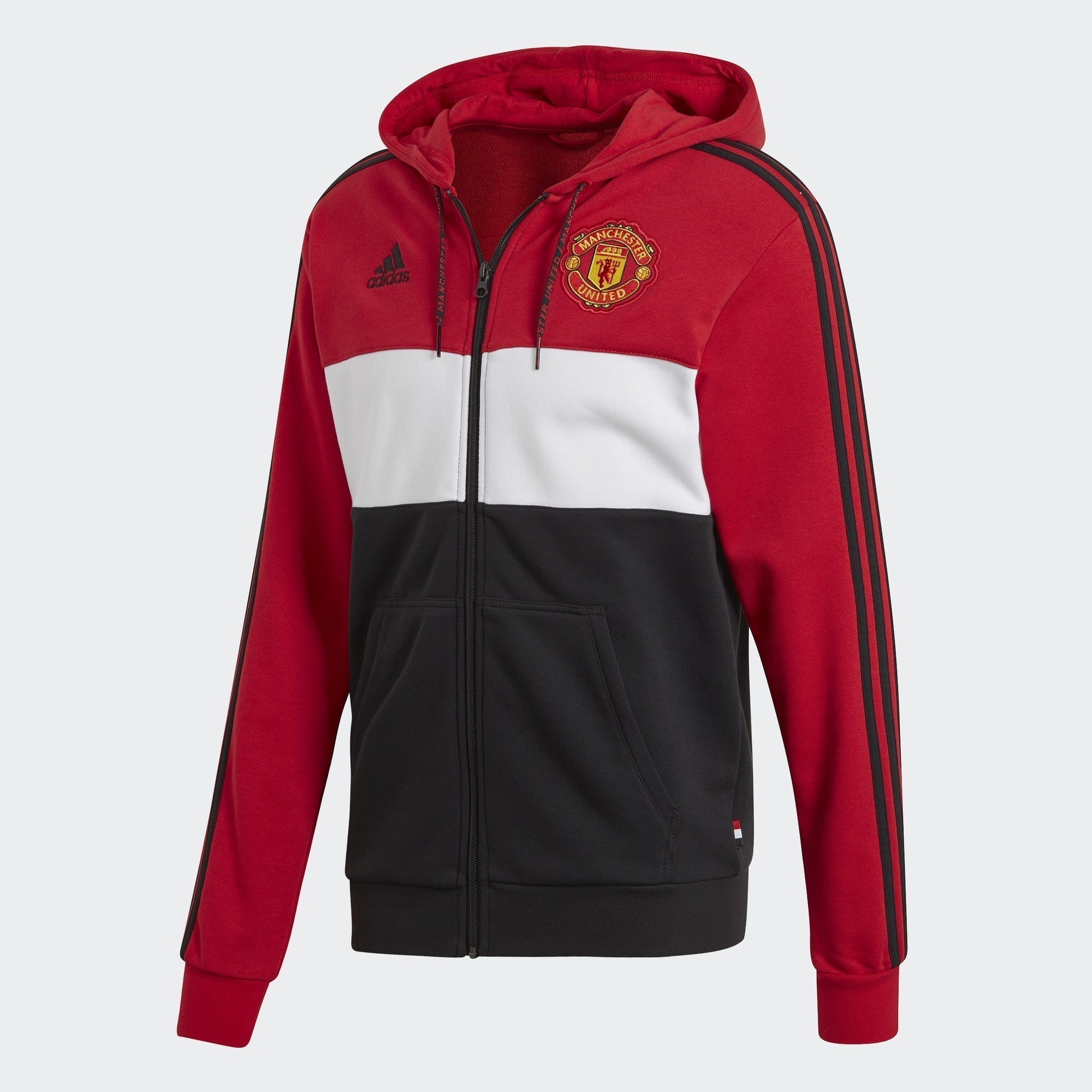 Men's Manchester United Hoodie - Real Red/White/Black