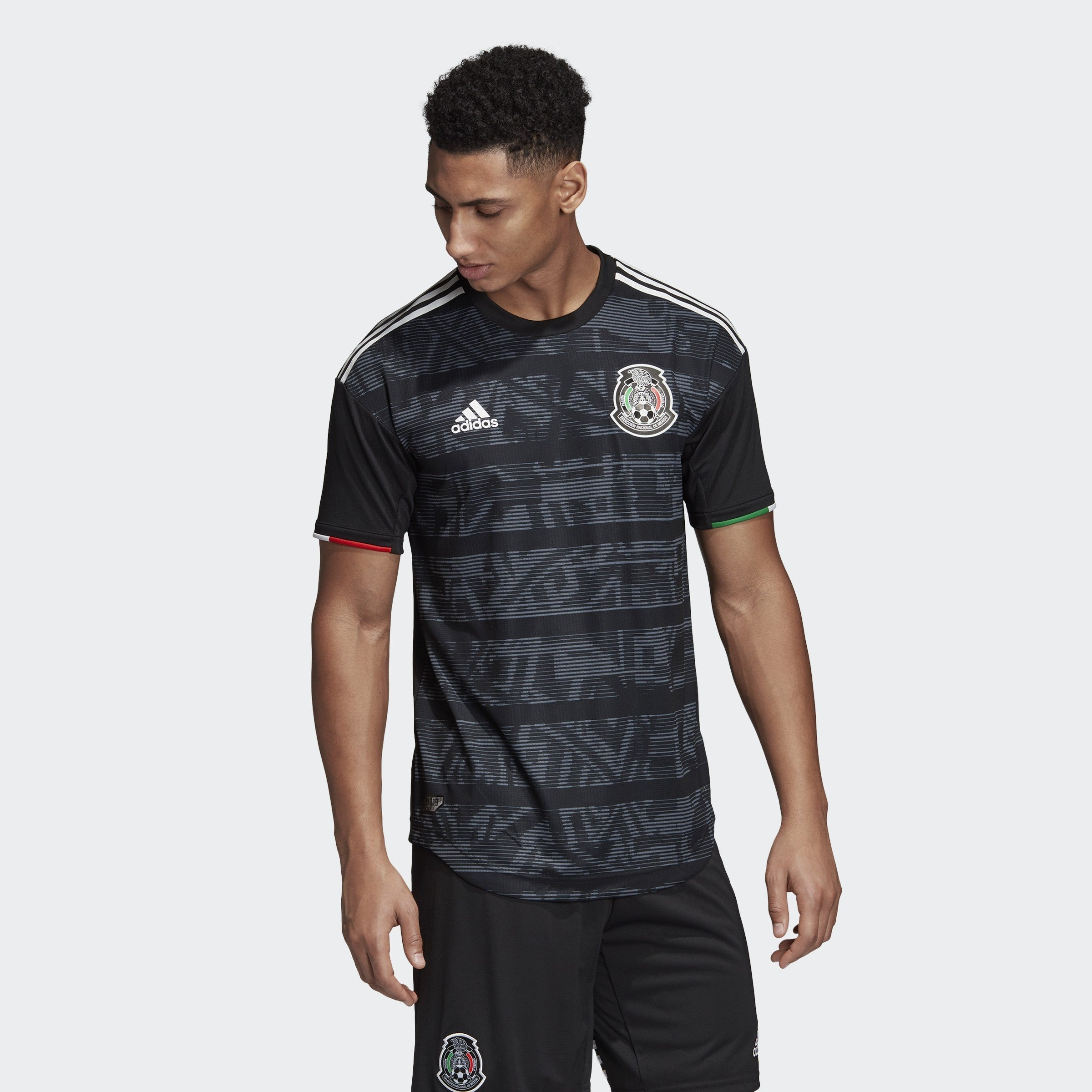 Men's Mexico 2019 Home Authentic Jersey - Black/White - Niky's Sports