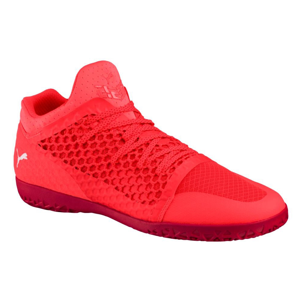 365 NetFIT IN Soccer Shoes - Fiery Coral/Toreador
