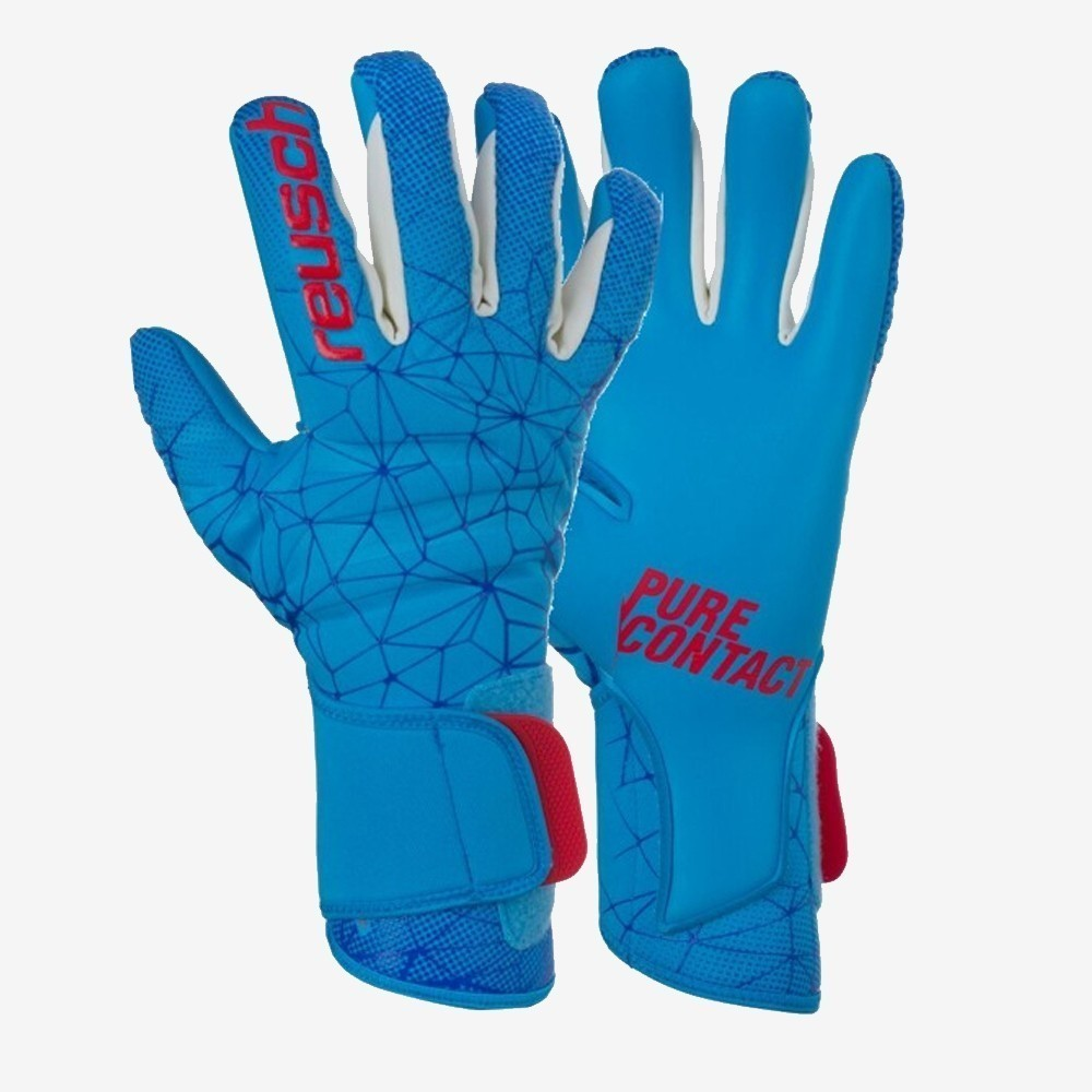Pure Contact II AX2 Goalkeeper Gloves - White/Aqua Blue
