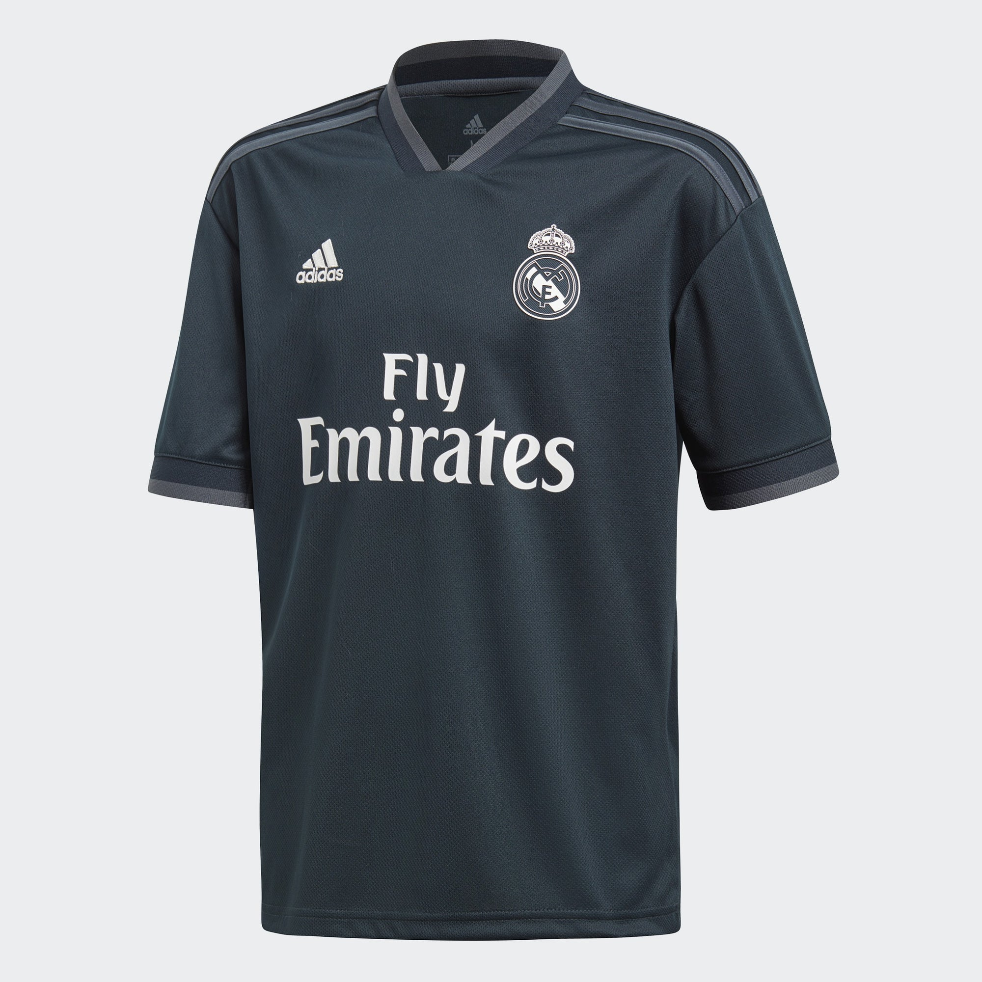 Kid's Real Madrid 18/19 Away Jersey - Tech Onix/White