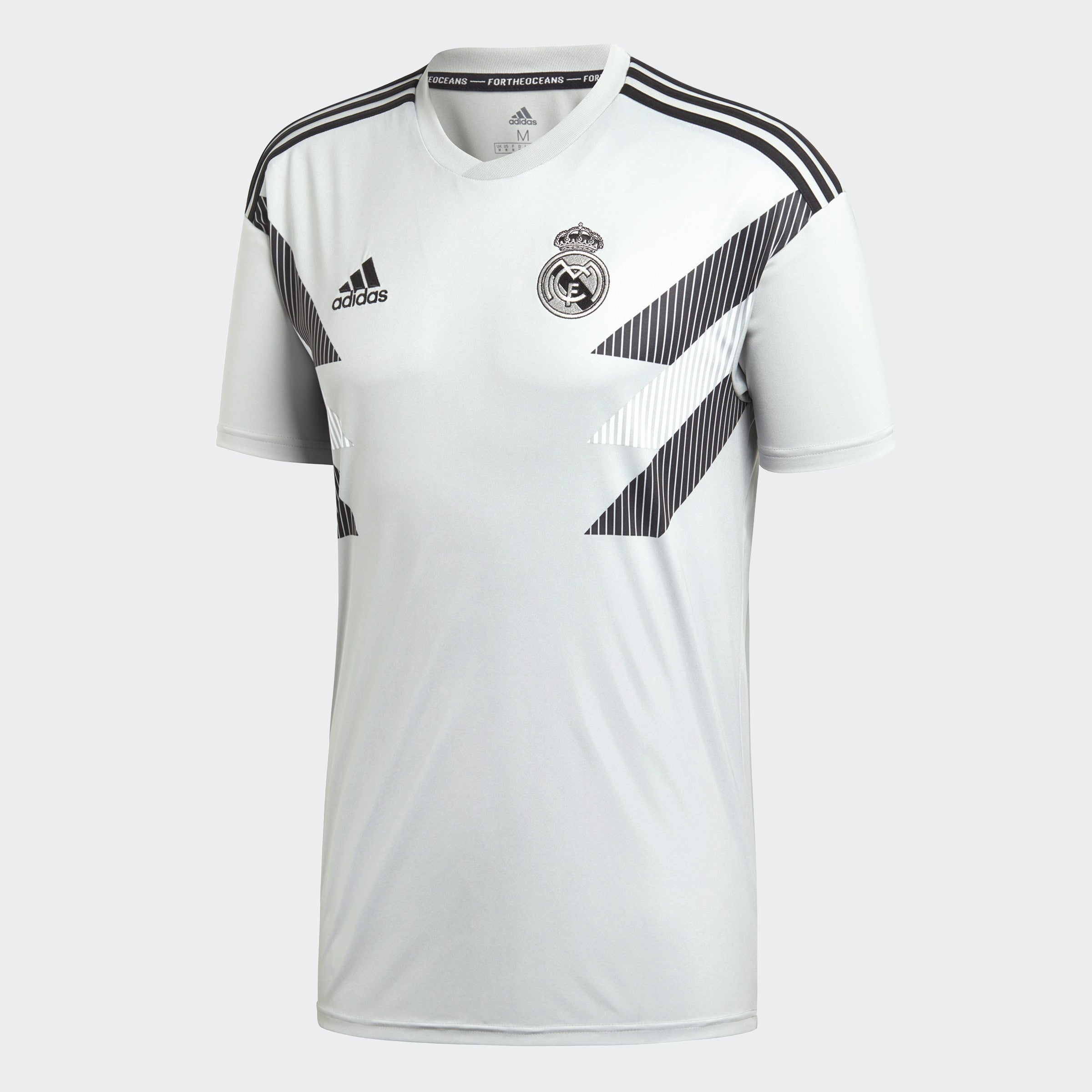 Men's Real Madrid 18/19 Home Pre-Match Jersey - Stone Black