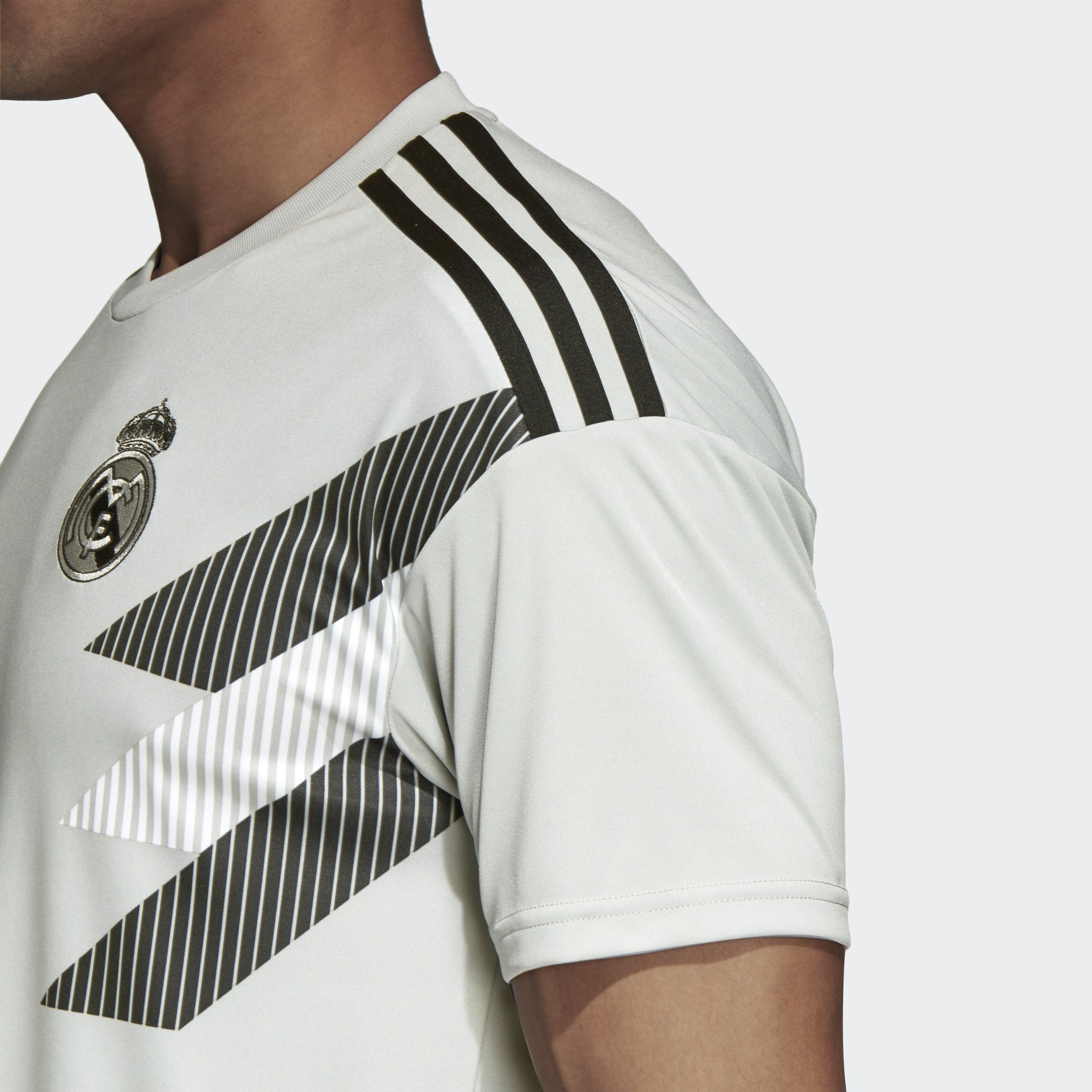 Men's Real Madrid 18/19 Home Pre-Match Jersey - Stone Black ...