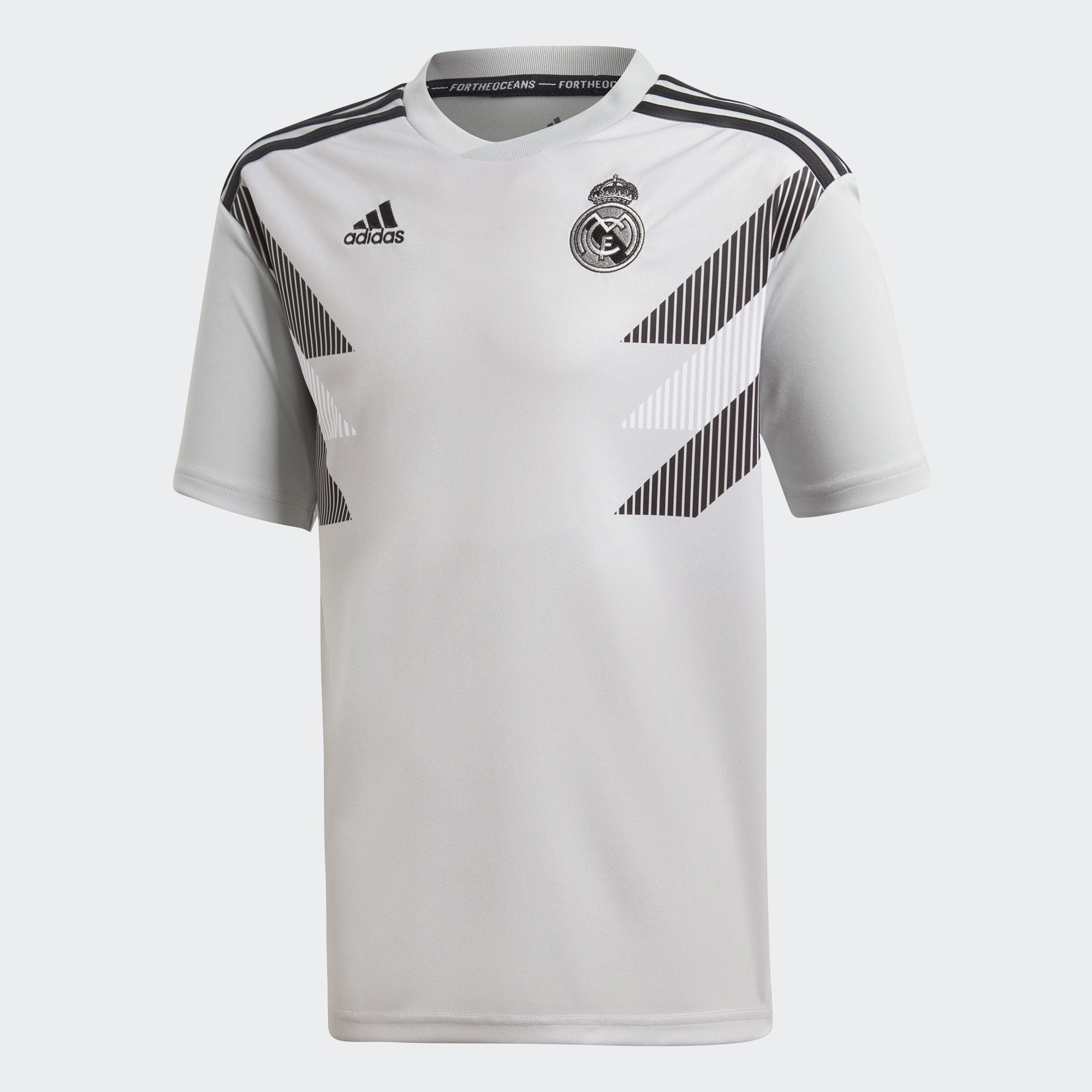 Kid's Real Madrid 18/19 Pre-Match Home Jersey - Stone/Black