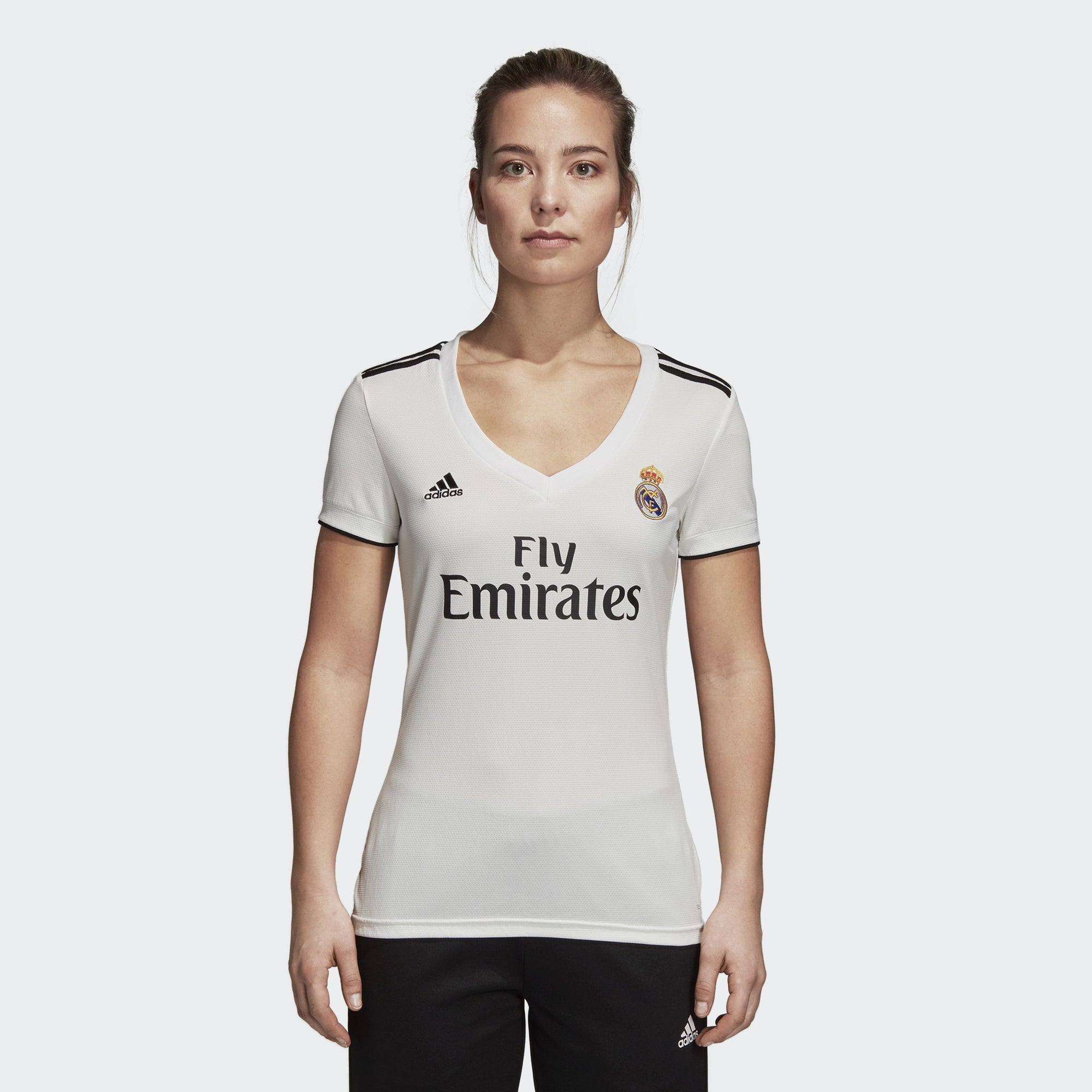 Women's Real Madrid Home Jersey - Core Black/Black