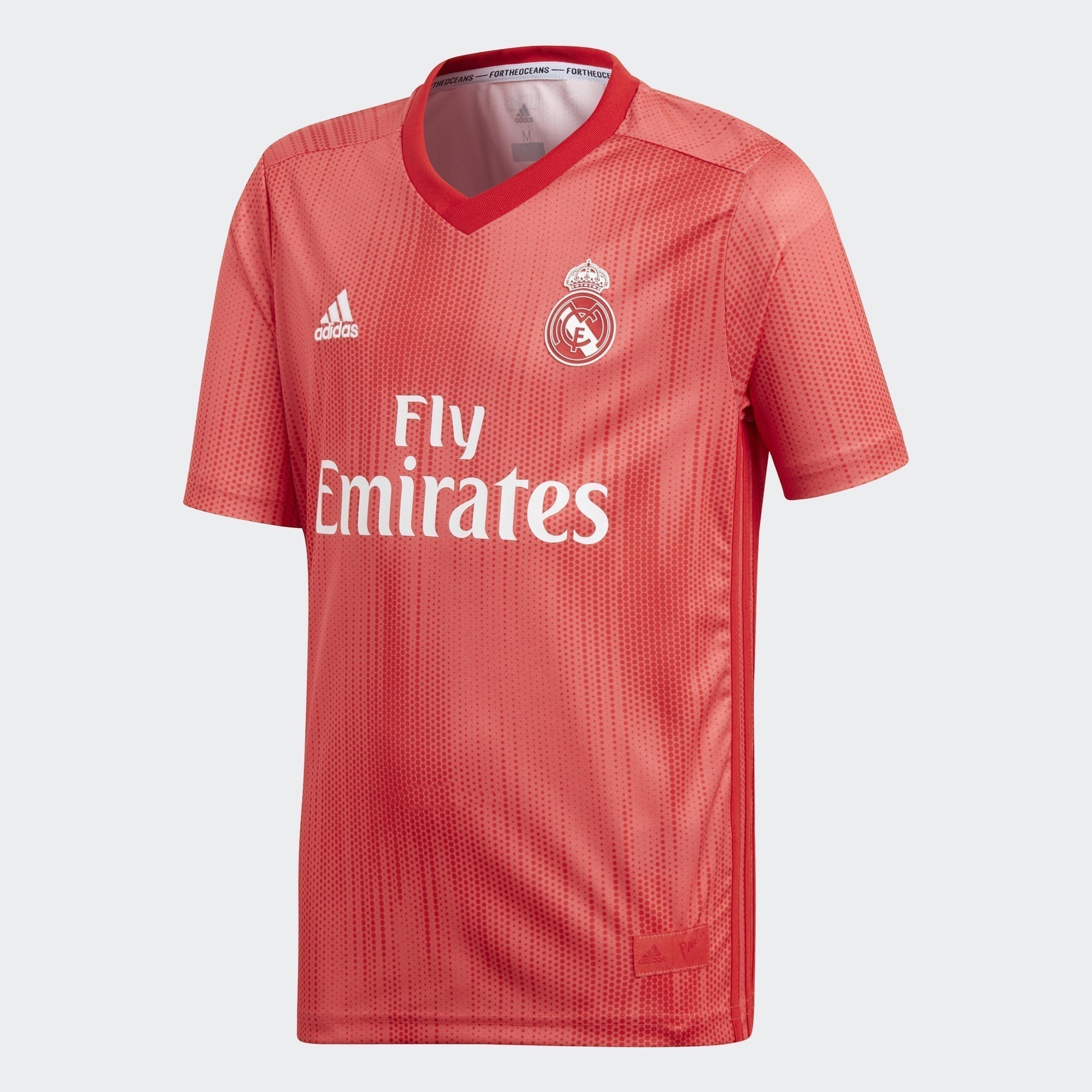Kid's Real Madrid 18/19 Third Jersey - Real Coral/Vivid Red