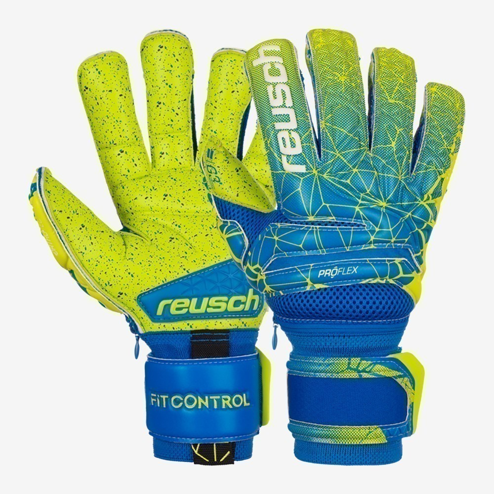 Fit Control Deluxe G3 Fusion Evolution Ortho-Tec Goalkeeper Glove - Blue/Lime