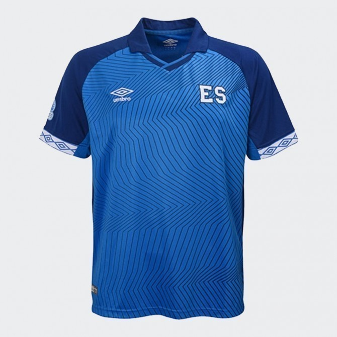 Kid's El Salvador 19 Home Jersey - Blue