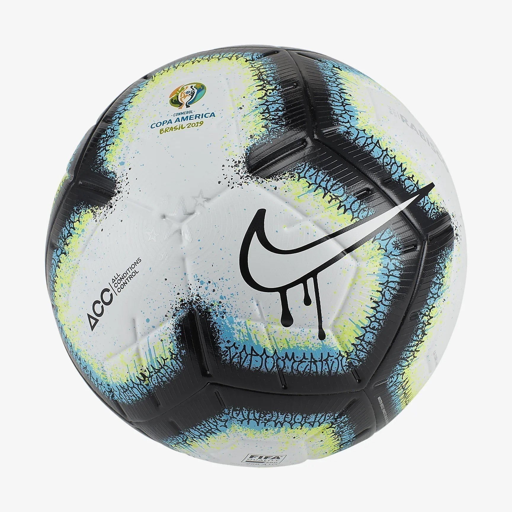 Merlin Rabisco Copa America 2019 Soccer Ball  - White/Black/Blue/White