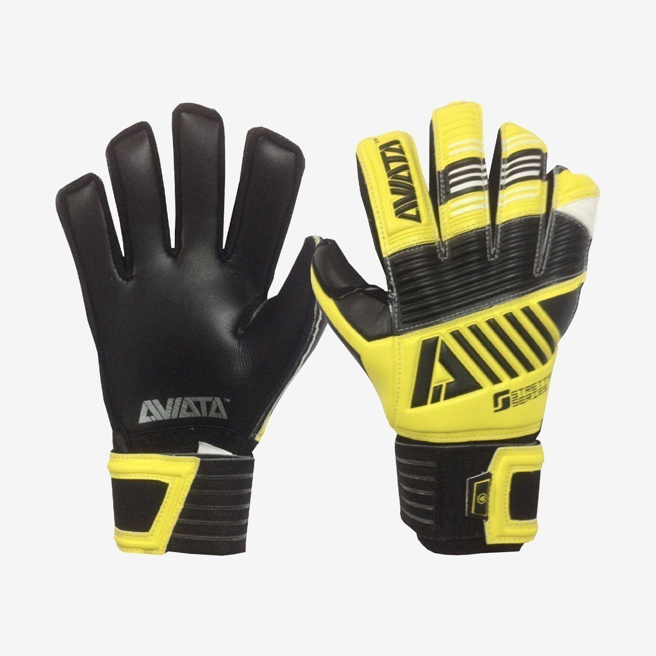 Kid's Stretta Solar Burst V7 Goalkeeper Gloves - Black/Yellow