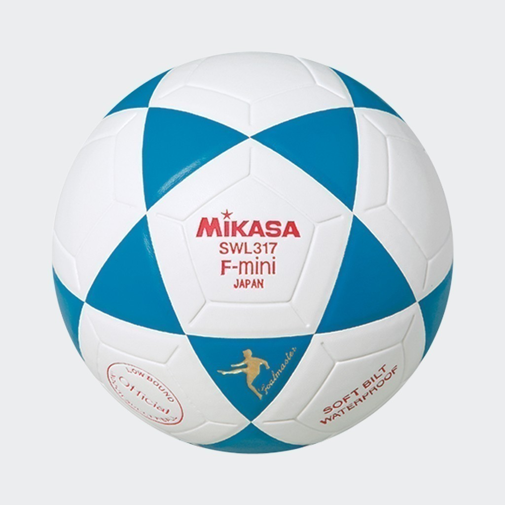 F-Mini Indoor Soccer Ball - White/Blue