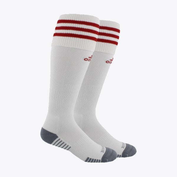 adidas Copa Zone Cushion III Socks Small - White/University Red