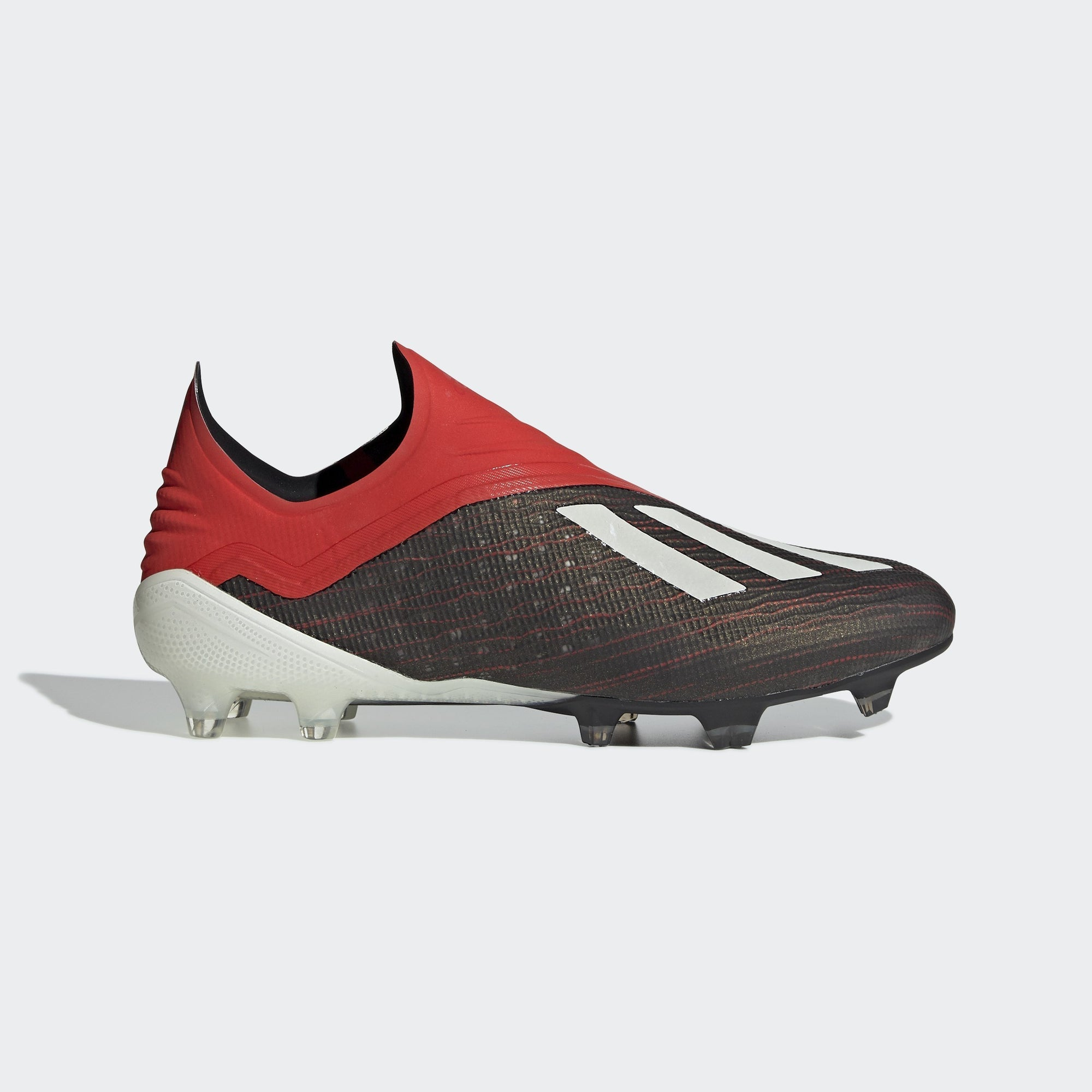 Men's X 18+ FG Soccer Cleats - Black/Cloud White/Red