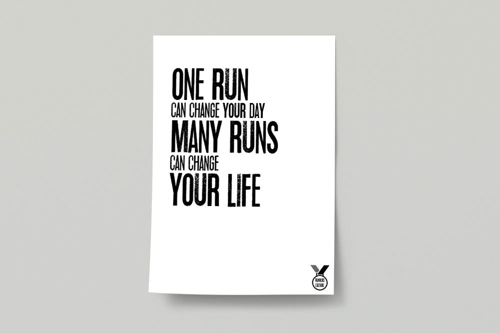 One Run Poster Print
