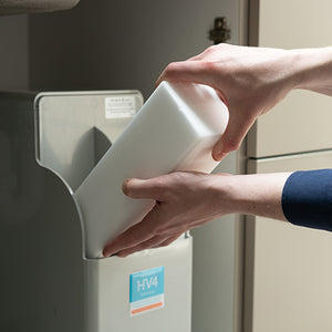 Adding salt blocks to a Harvey Water Softener