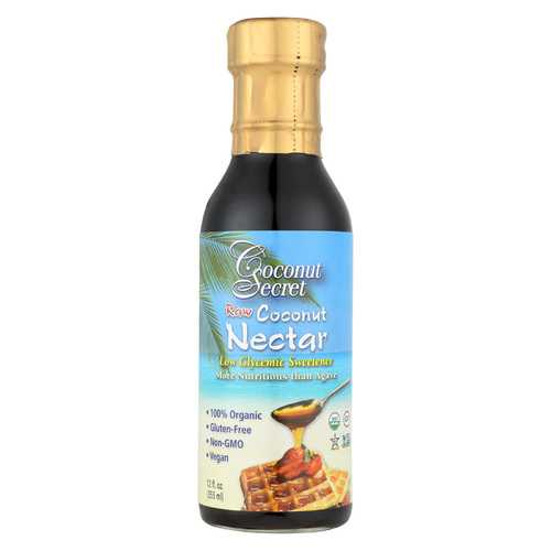 Coconut Secret - Raw Nectar - Coconut - Case of 12 - 12 Fl oz.
