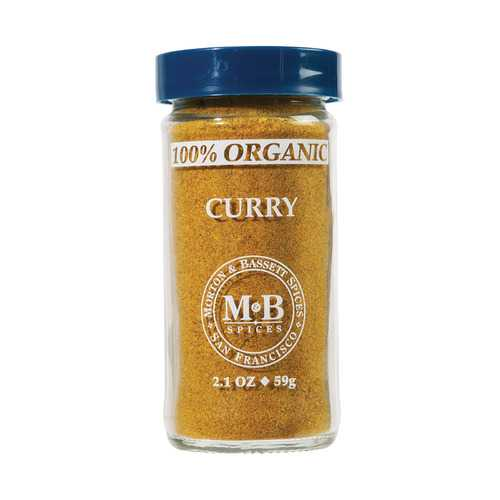 Morton and Bassett Organic Curry - Curry - Case of 3 - 2.1 oz.