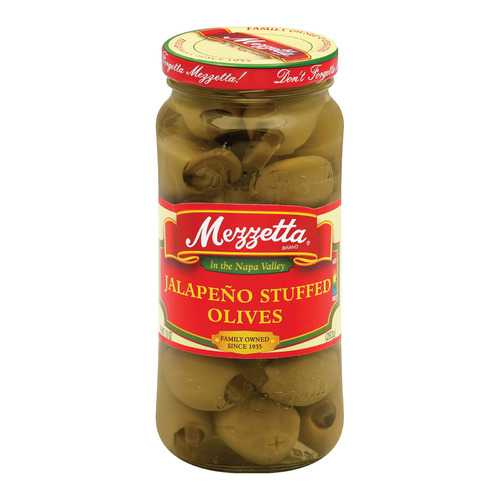 Mezzetta Stuffed Olives Jalapeno - Case of 6 - 10 oz.