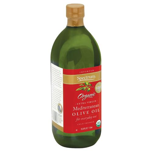 Spectrum Naturals Organic Extra Virgin Mediterranean Olive Oil - Case of 6 - 33.8 Fl oz.